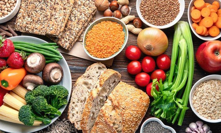 Fiber: grains and vegetables